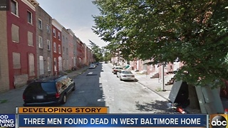 3 men found dead in west Baltimore home - Video