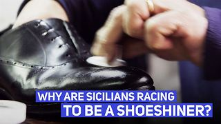 How shoeshining (and Sicilians) are making a comeback - Video