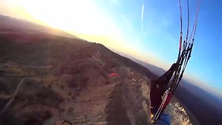 Extreme nighttime paraglide above Carpathian Mountains - Video