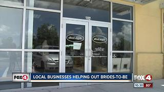 Local business helping out brides to be - Video