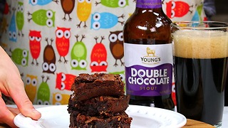 Peanut Butter Bacon Beer Brownies