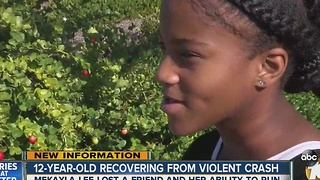 Girl, 12, continues recovery from violent crash that killed friend - Video