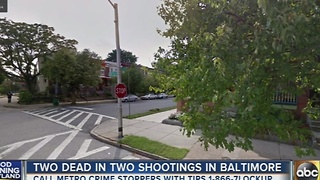 Man riding bike shot in the head in Baltimore - Video