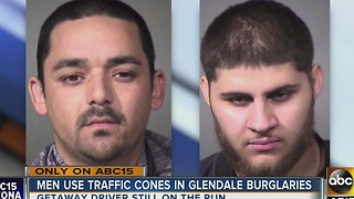 PD: Men use traffic cones in Glendale robberies - Video