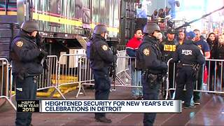 New Year's Eve security in Detroit - Video