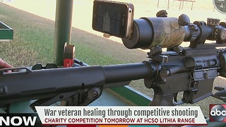 Blind war veteran healing through competitive shooting - Video