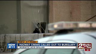 Hazmat crews called to burglary near North Owasso Ave. - Video