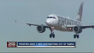 Frontier Airlines announces service to 11 new cities from Tampa - Video