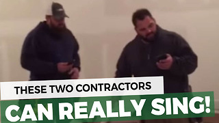 Two Burly Contractors Break Into Impromptu Christmas Song. Their Voices Gave Me Goosebumps - Video