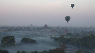 Balloon flight over Bagan, Myanmar - Video
