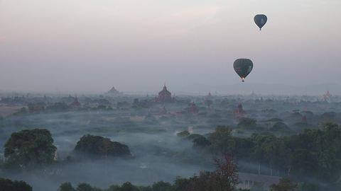 Balloon flight over Bagan, Myanmar