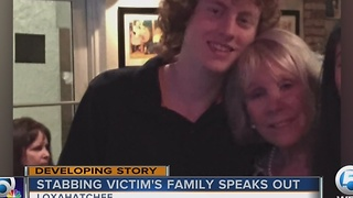 Stabbing victim's family speaks out - Video
