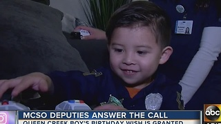 Queen Creek boy surprised by deputies for birthday - Video
