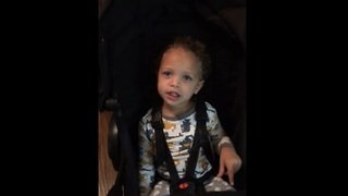 Adorable toddler shows dad who's boss - Video