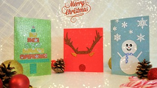 DIY homemade Christmas cards - Video