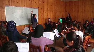 Afghan girls pursue music passion