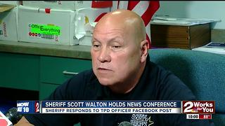 Sheriff responds to TPD officer's facebook post