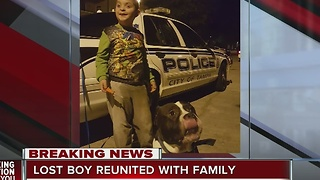 Lost boy and dog reunited with family in Tampa - Video