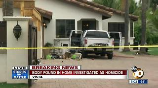 Body found in home investigated as homicide
