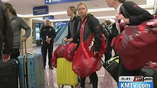 UNO swimmers return from Fort Lauderdale - Video