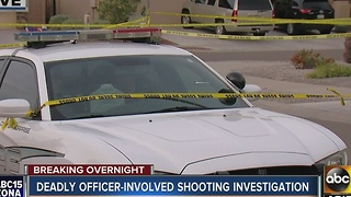 Deadly officer involved shooting in Surprise