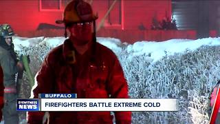 Firefighters are frozen out after two fires - Video