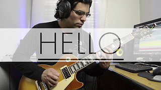 Electric guitar cover of 'Hello' by Adele - Video