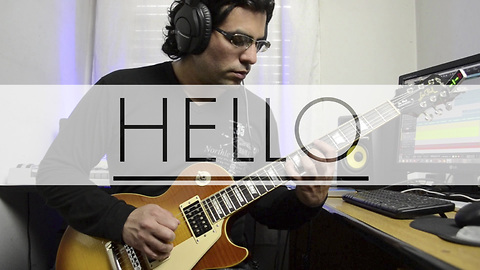 Electric guitar cover of 'Hello' by Adele