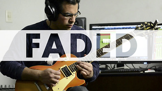 Electric guitar cover of Alan Walker's 'Faded' - Video