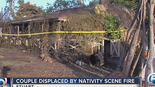 Couple displaced by fire - Video