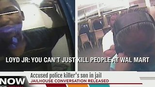 Accused police killer's son in jail - Video