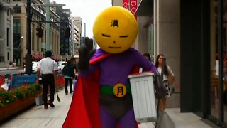 Street-Cleaning Superhero - Video