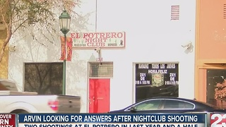 Arvin looking for answers after nightclub shooting. - Video