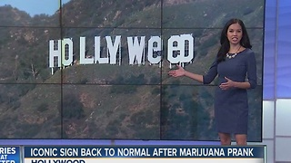 Iconic Hollywood sign back to normal after changed to