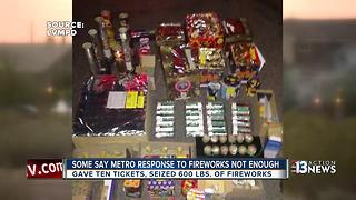 Las Vegas police, public disagree over success of fireworks crackdown - Video