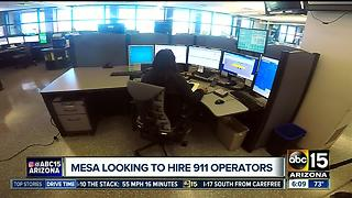 Mesa looking to hire 911 operators - Video