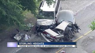 Young woman killed in aggressive driving crash - Video