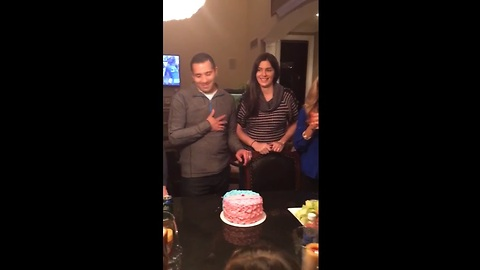 Pregnant Couple Fools Entire Family During Gender Reveal Party