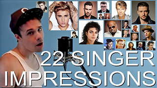 ONE GUY, 22 VOICES (Sam Smith, Michael Jackson, Bruno Mars, Famous Singer Impressions) - Video