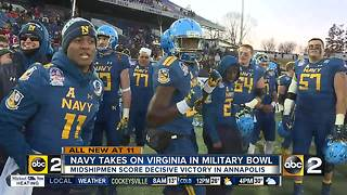 Abey's 5 touchdowns help Navy beat Virginia 49-7 in Military Bowl