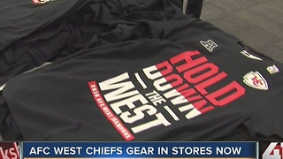 AFC West Chiefs gear in stores now - Video
