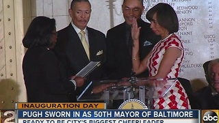 Baltimore's 50th mayor Catherine Pugh sworn in - Video