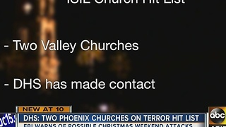 Valley churches warned for possible Christmas attacks - Video