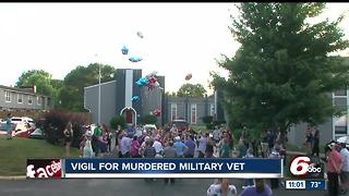 Vigil for murdered military veteran - Video
