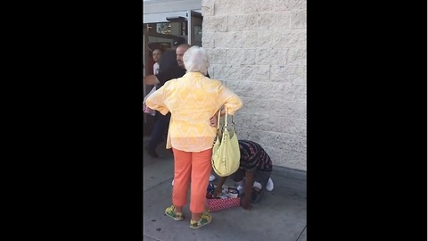 Kind-Hearted Man Buys All The Candy From Boy That Was Harassed By Old Lady