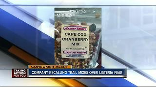 Trail mix sold online and at stores nationwide recalled due to possible Listeria - Video