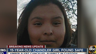 15-year-old girl found after Amber Alert was issued