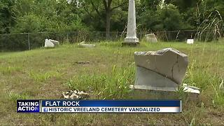 Flat Rock's historic Vreeland Cemetery vandalized for a second time - Video