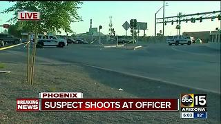 Police investigating after officers shot at near I-17 - Video