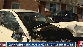 1 Arrested After Crashing Into Parked Cars - Video